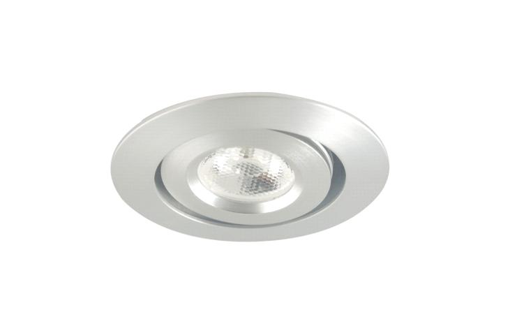 Ledware led inbouwspot 1 led rond 3 w for Led verlichting spots inbouw