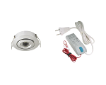 LED spotlight set 1x 105A brushed alu warm white (2700k | 3W | 190lm | Ø43mm)