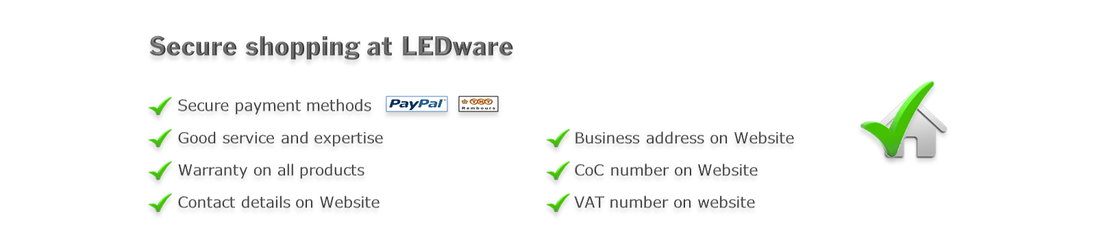 Secure shopping at LEDware