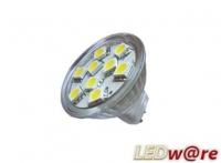 LED steeklampje | 12V | 12 LED | 2,9W | VV 20W | Daglicht