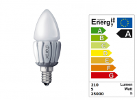 LED Lamp | 230V | 5W | VV 24-40W | Warm Wit | E14 |
